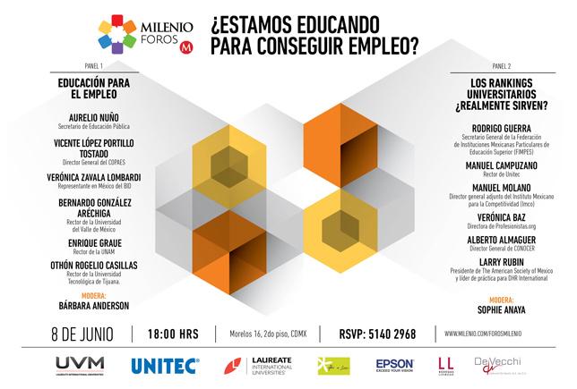Cartel de invitación a Milenio Foros