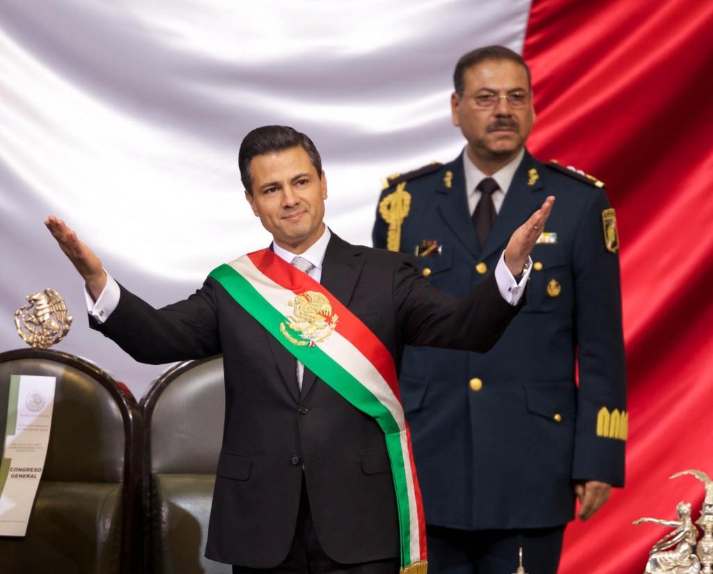 Galería de la toma de posesión de Enrique Peña Nieto como Presidente de México, en las instalaciones del Congreso de la Unión: Palacio de San Lázaro